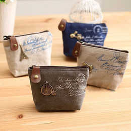Wholesale Lovely Classicl Canvas Makeup Bag Creative Small Purse For Lady As Cosmetic Bag