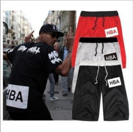 Wholesale 2014 men s women s sports shorts Hood By Air HBA Kanye West Tide brand casual pants fifth street