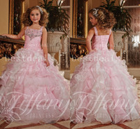 2014 Lovely Pink Sleeveless Girl's Pageant Dresses Layered R...