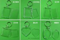 acrylic blanks - Blank Acrylic Rectangle Keychains Insert Photo Keyrings Key ring chain