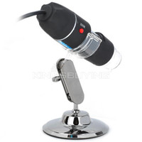 Wholesale S02 X USB Digital Photography Microscope Magnifier w LED White Light Black