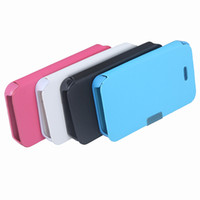 Wholesale Fashion Magnetic protective Leather Case Flip Hard Full Cover for iPhone G S Rose Blue White Black for choice PA1520