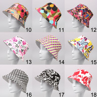 Wholesale 27 colors New floral style women bucket sun hat ladies fashion hat MZ