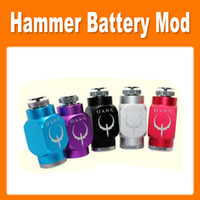 Electronic Cigarette Hammer battery body As pictures Hammer Battery Body Colorful Hammer Pipe Mod Pipe Battery Mod for 510 Thread Atomizer E Cigarette new via dhl (0207032)