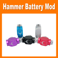 Electronic Cigarette Hammer battery body As pictures Hammer Battery Body Colorful Hammer Pipe Mod Pipe Battery Mod for 510 Thread Atomizer E Cigarette new free shipping (0207032)
