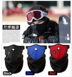 Fashion Thermal Neck warmers Fleece Balaclavas CS Hat Headgear Winter Skiing Ear Windproof Warm Face Mask Motorcycle Bicycle Outdoors Masks