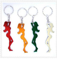 aluminum gifts for women - Multi Color Aluminum Beautiful Woman Bottle Opener With Keychain For Wedding Favors Best Gift