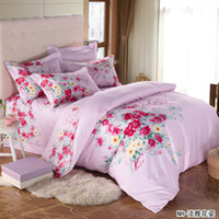 100% Cotton Disposable Woven Bedding set 4pcs bedding queen king size bedspreads home textile 100% cotton floral bedclothes
