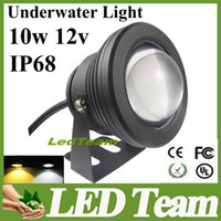 Wholesale 10W LED Flood light Underwater LED Floodlight Pool Light Waterproof IP68 LM Lamp Light v with Convex Glass warranty years CE RoHS