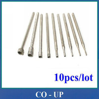 Wholesale mm Shank Suction needle Tip Grinding Bits Polisher Diamond Burs Mounted Points