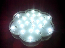 Wholesale non waterproof on off switch inches white led vase base light battery operated LED centerpiece light