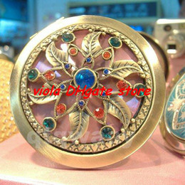 Wholesale cosmetic pocket compact stainless makeup mirror gift