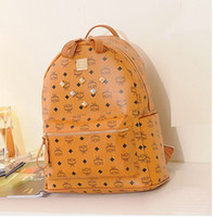 Wholesale MCM Korea rivets college student bag shoulder bag computer bag backpack