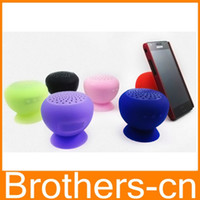 2 Universal Waterproof Wireless Bluetooth Mini Speaker Mushroom Waterproof Silicon Suction Cup Handfree Holder for Iphone 4 4s 5 5c 5s Itouch Ipad mini Air 2 3 4