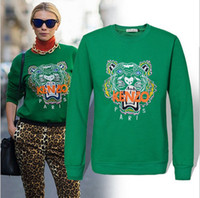 Wholesale new Europe clothing fashion Couples Sweater round collar tiger head printing Sweater pure cotton pullover sweater Size