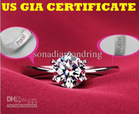 Wholesale US GIA certificate ct moissanite engagement rings for women K white gold semi moissanite gemstone semi rings for women