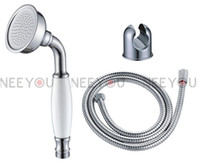 Wholesale Bathroom shower accessories Chromeplate Finish Brass Telephone Hand Shower set Metal Hloder