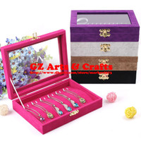 Wholesale Bracelet Holder Jewelry Box Glass Lid Pendant Storage Box Necklace Tray