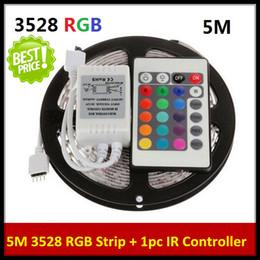 10 x 5M 12V 3528 SMD RGB 300LEDs LED Light Strip Lamp 24Key IR remote Controller