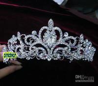 Cheap Wholesale - 2014 Shining Wedding Bridal Crystal Veil Tiara Crown Headband