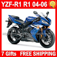 7gifts Factory blue black For YAMAYA YZF R1 04- 06 YZFR1 YZF1...