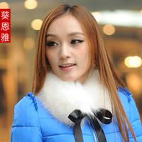 Wholesale Special two shipping fake imitation fox fur collar collar scarf scarves female wild fur collar bow GM