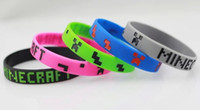 Wholesale hot new popular game Minecraft Creeper bracelet Silicone wristbands gift