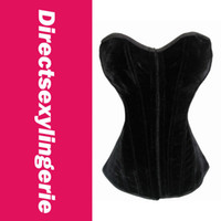 Women Bodysuit Bustiers & Corsets Flannel Full Steel Boned Corset LC5183+ Cheaper price + Free Shipping Cost + Fast Delivery