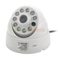 Wholesale CMOS MP Security Surveillance Video Camera w Night Vision IR LED White DC V