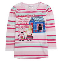 Girl name brand clothing - 2014 Brand name new children long sleeve t shirt stripe cotton clothes colors baby boy t shirt