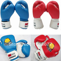 Wholesale New PU Kids Children Cartoon Sparring Boxing Gloves Training Age3 L0217