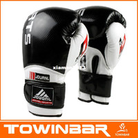 Wholesale High Quality Professional Leather Boxing Gloves Fight Sanda Punch Bag MMA Muay Thai Pad oz Make in china