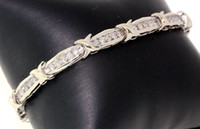 Wholesale 10K WHITE GOLD BRACELET WITH CTW DIAMONDS