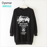 Pullover alphabet patterns free - Fashion Spring Women Pure Cotton Alphabet Long Pattern Sweatshirt Casual Loose Women Sweatshirts
