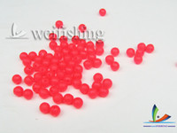 Wholesale Fishing accessories Round beads space bean bead false bait fishing bait fishing supplies accessories red