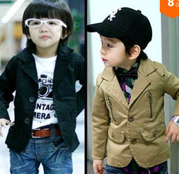 Wholesale Handsome Children s Coat casual outerwear cardigan baby child blazer spring and autumn suit boy s jacket