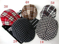Beret berets for kids - 2015 Spring and Autumn Kids Fashion Berets Plaid Hats For Baby Boy And Girl Hat And Cap