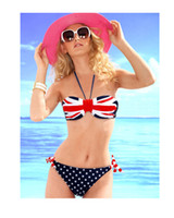 swimwear uk - 2015 Women s Bikini Hot NWT Sexy UK flag halterneck beachwear Stylish Lady sweet Swimwear