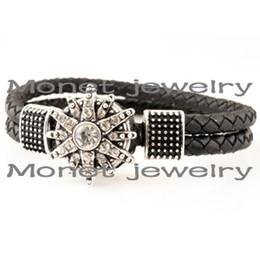 Wholesale A19472 chunky jewelry personalized noosa bracelet jewelry buy one bracelet get one rhinestone chunk free