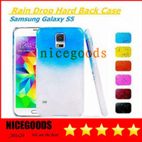 Wholesale Christmas NEW Crystal gradient Rain drop Hard Back Case Cover raindrop for iphone g G c C s3 s4 S5 I9300 I9500 I9600 free ship