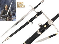 Wholesale Aragorn Ranger Sword with Small Kinfe Real Steel Blade America Movie The Hobbit The Lord of the Rings Sword Strider Replica Medieval Sword