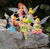 Wholesale High Quality PVC set Tinkerbell Fairy Adorable tinker bell Figures Retail