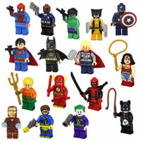 Wholesale Super Hero Figures Toys styles The Avengers Toys Hobbies Classic Toys Action Figures DIY Building Blocks Bricks Minifigures without box