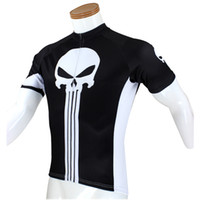 Wholesale Super Hero The Punisher short Sleeve Cycle Jersey our size is size smaller than us size