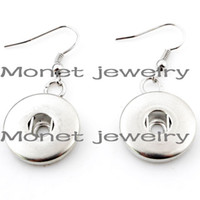 Wholesale w00838 newest noosa earrings cheap high quality plating diy noosa earrings
