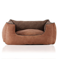 Wholesale Small Medium large big dog bed sofa Deluxe suede pet bed cat bed with removable washable cover and pillow Labrador Gloden Boxer Chihuahua