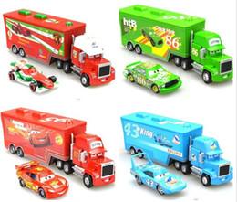 Wholesale Cars Mack Chick hauler Thai Pixar Car Lightning Hick Truck Toy car Kid color with little car