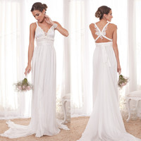 A-Line Reference Images Backless 2014 New Anna Campbell Sexy Backless Sheer Wedding Dresses Chiffon Lace Boho Beach Garden Bridal Party Gowns Free Shipping Cheap