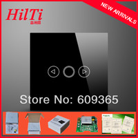 Wholesale China Hilti EU Standard Fashion design glass touch panel Dimmer Switches Touch Crystal capacitive touch panel light dimmer switch gang way