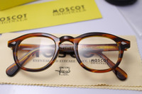 Wholesale Moscot Lemtosh Johnny Depp Designer Fashion Glasses Blonde Size L M S Eyeglass Frame With Pain Mirror In Box